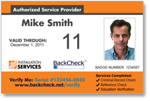 Click to view the Sample Badge